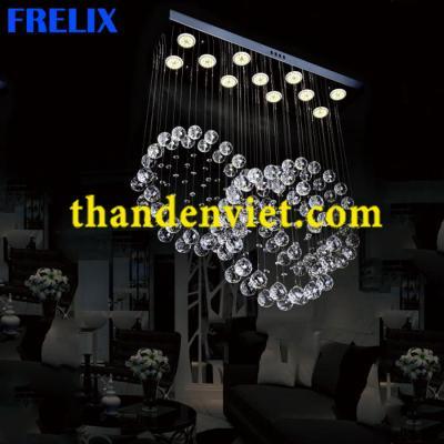 Đèn chùm thả pha lê led cao cấp CTPL-2021/700
