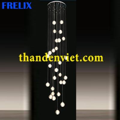 Đèn chùm thả pha lê led cao cấp thiết kế đẹp 1080-28
