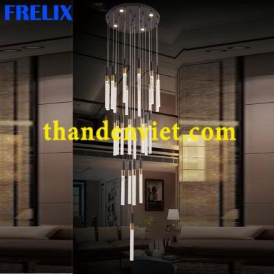 Đèn chùm thả pha lê led cao cấp thiết kế đẹp 1951-25