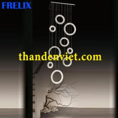 Đèn chùm thả pha lê led cao cấp thiết kế đẹp 7011