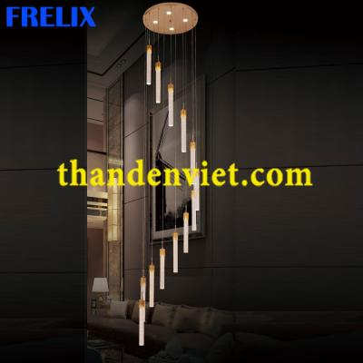 Đèn chùm thả pha lê led cao cấp thiết kế đẹp 953-12