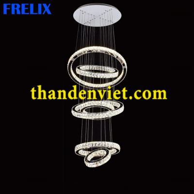 Đèn chùm thả pha lê led cao cấp thiết kế đẹp 9812-236D