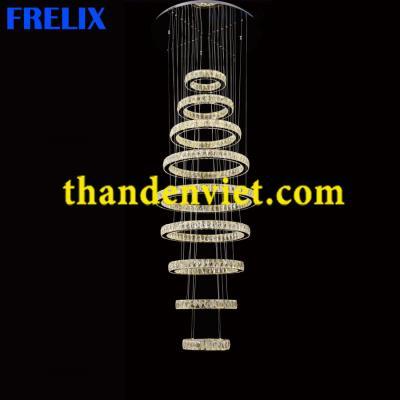 Đèn chùm thả pha lê led cao cấp thiết kế đẹp 99812