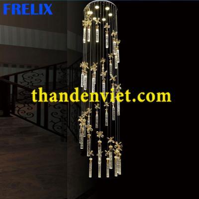 Đèn chùm thả pha lê led cao cấp thiết kế đẹp CTPL952/36