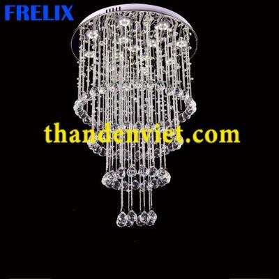 Đèn chùm thả pha lê led sang trọng CTPL1710/450