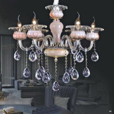 Đèn chùm trang trí hiện đại thân đèn bằng hợp kim cao cấp và dây thả pha lê sang trọng giá rẻ nhất PLN9036/6