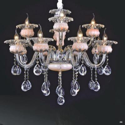 Đèn chùm trang trí hiện đại thân đèn bằng hợp kim cao cấp và dây thả pha lê sang trọng giá rẻ nhất PLN9036/8+4