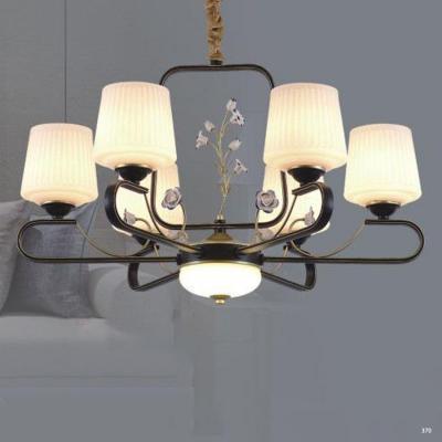 Đèn chùm trang trí mang phong cách Châu Âu đèn bằng hợp kim cao cấp đính họa tiết và chóa đèn bằng thủy tinh sang trọng 3088/6