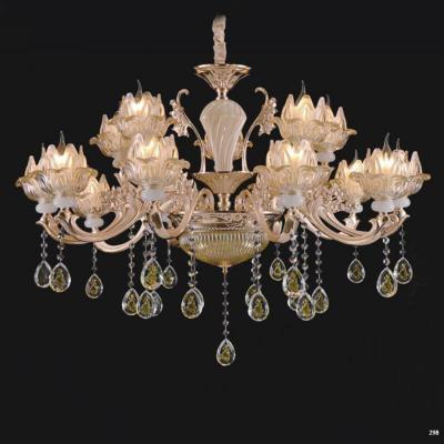 Đèn chùm trang trí phong cách hiện đại chao đèn bằng thủy tinh cao cấp khắc nhiều hoa văn và đính dây thả pha lê sang trọng 8612/10+5