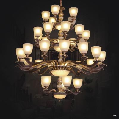 Đèn chùm trang trí thân đèn bằng hợp kim cao cấp chống rỉ và chóa đèn bằng pha lê sang trọng hiện đại CCA8225/5+15+10+5