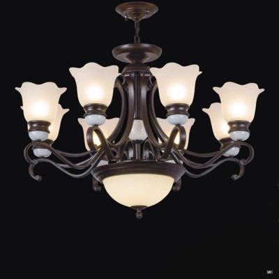 Đèn chùm trang trí thân đèn bằng hợp kim cao cấp và chóa đèn bằng thủy tinh sang trọng giá rẻ nhất 9103-8