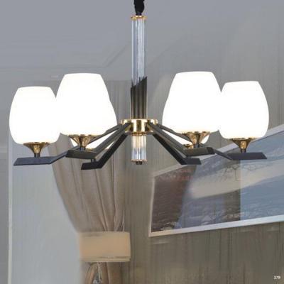 Đèn chùm trang trí thân đèn bằng hợp kim cao cấp và chóa đèn bằng thủy tinh sang trọng hiện đại 9030-6