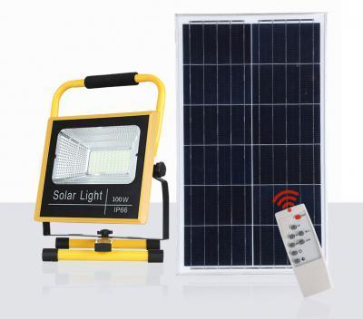 Đèn pha năng lượng mặt trời xách tay DC 100W