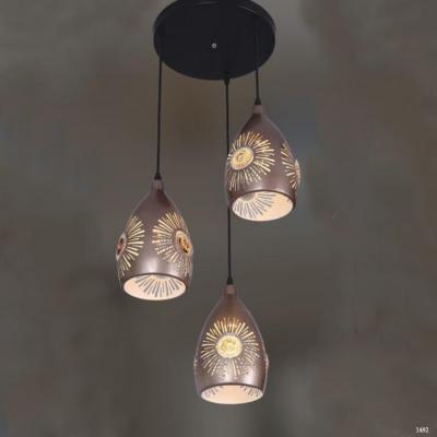 Đèn thả 3 dây hoa văn hiện đại 1938-3
