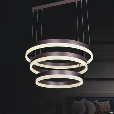 Đèn thả 3 vòng tròn trang trí kiểu dáng hiện đại dễ ứng dụng 1837C-3