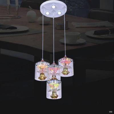Đèn thả bàn ăn thuỷ tinh 4 dây đèn DCT-1019-4
