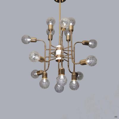 Đèn thả chùm nghệ thuật nhiều bóng đèn hàng cao cấp DTKWX-101