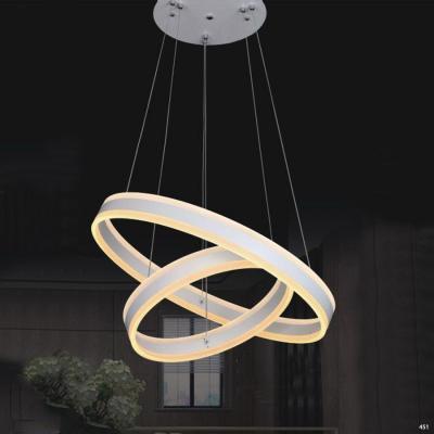 Đèn thả dây kiểu dáng 2 vòng tròn đan vào nhau 1802-2