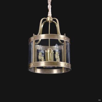 Đèn thả đồng cao cấp chao đèn bằng thủy tinh sang trọng D9114-5