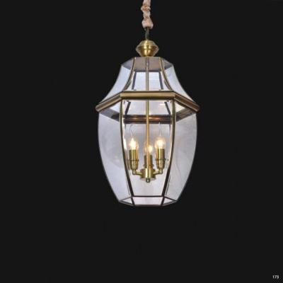 Đèn thả đồng cao cấp chao đèn bằng thủy tinh sang trọng DCAD6001/3