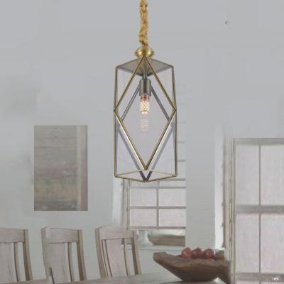 Đèn thả đồng nguyên chất và chao đèn bằng thủy tinh giá rẻ nhất D9024