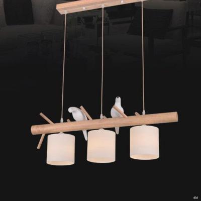 Đèn thả hiện đại 3 dây kèm 2 chú chim nhỏ dễ thương 6026-3