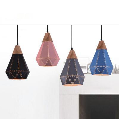 Đèn thả hiện đại 4 viên kim cương 4 màu DY058