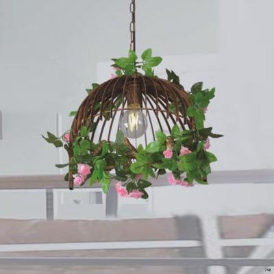 Đèn thả lồng chim bên trong có những chú chim nhỏ 1 bóng led DY112-1