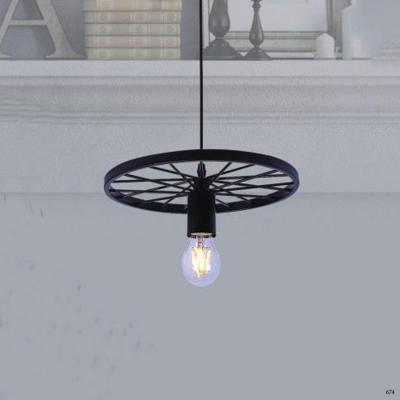Đèn thả nghệ thuật 1 bánh xe xếp vòng hàng cao cấp DTK001/1