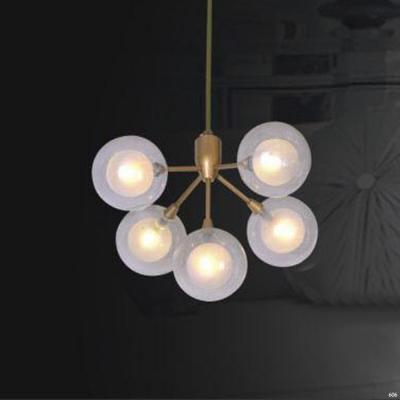 Đèn thả nghệ thuật 5 bóng đèn tròn mẫu mới đơn giản A004