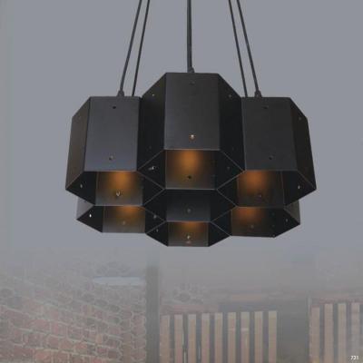 Đèn thả nghệ thuật chum đèn màu đen huyền bí ấn tượng DTKWX-106