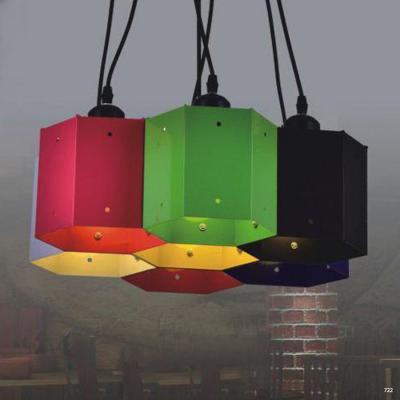 Đèn thả nghệ thuật chùm nhiều màu thời thượng DTKD417/7