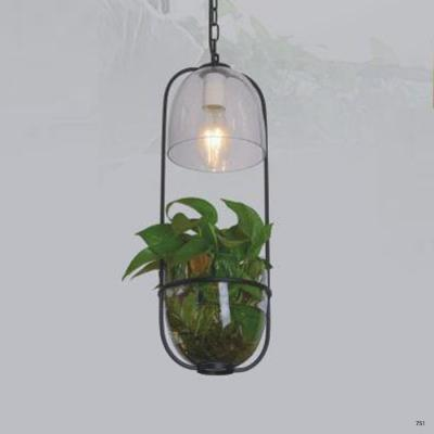 Đèn thả nghệ thuật hình chậu hoa 1 bóng led giá rẻ DY113