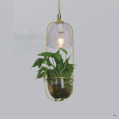 Đèn thả nghệ thuật hình chậu hoa 1 bóng led giá rẻ DY113B