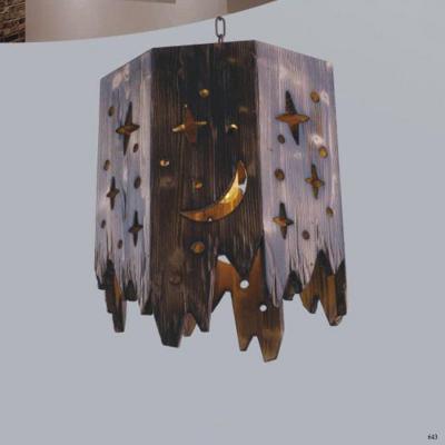 Đèn thả nghệ thuật hình lồng đèn trăng sao DY062-1