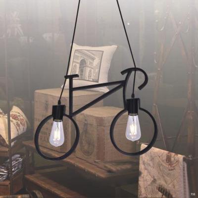 Đèn thả nghệ thuật hình xe đạp 2 bóng đèn led DTKDC5640