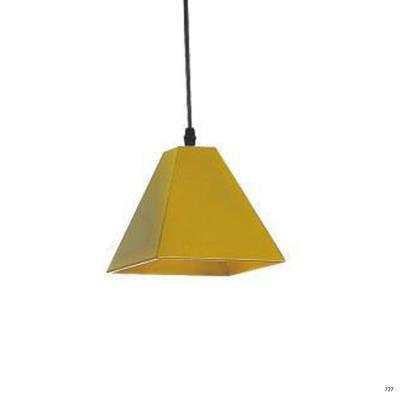 Đèn thả nghệ thuật kiểu dáng đơn giản búp màu vàng lá 1 đèn led DTKD310-4