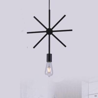 Đèn thả nghệ thuật kiểu hoa thị 1 bóng đèn giá rẻ nhất DY2215/B
