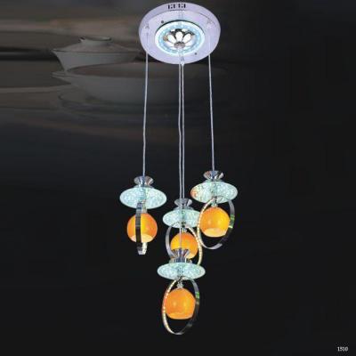 Đèn thả pha lê 4 trái châu vàng DCT-5350-4