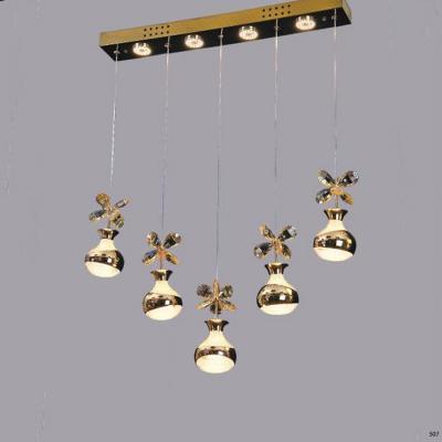 Đèn thả pha lê 5 dây kiểu dáng hiện đại giá rẻ nhất 9803-5