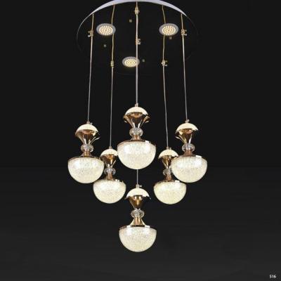 Đèn thả pha lê 6 dây ánh sáng trắng giá rẻ nhất 9802/6
