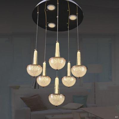 Đèn thả pha lê 6 dây ánh sáng vàng giá rẻ nhất 9801/6
