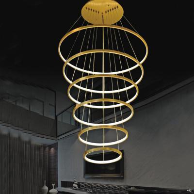 Đèn thả thông tầng cao cấp 6 tầng nhỏ dần xuống phía dưới 1025-6