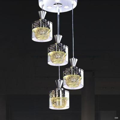 Đèn thả thuỷ tinh cao cấp trang trí phòng ăn hiện đại DCT-H5104-4
