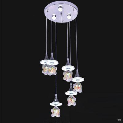 Đèn thả trang trí 6 dây pha lê DCT-1025-6