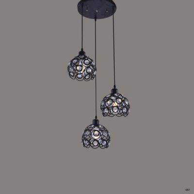 Đèn thả trang trí nghệ thuật  kiểu dáng hiện đại 3 dây bóng led DTKA111