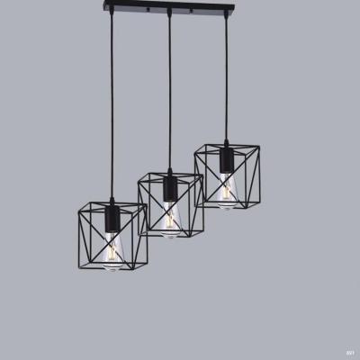 Đèn thả trang trí nghệ thuật  kiểu dáng hiện đại gồm 3 dây đèn DTKD239