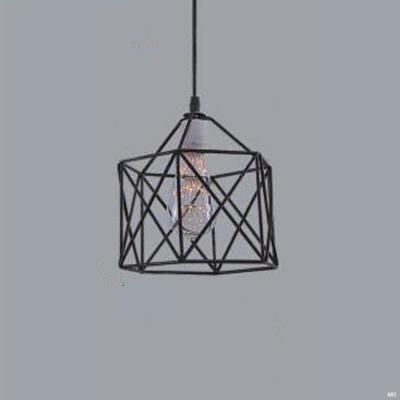Đèn thả trang trí nghệ thuật mẫu khung vuông đơn giản DTKD409