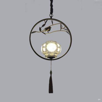 Đèn thả trang trí thân đèn bằng hợp kim cao cấp và chóa đèn bằng thủy tinh kèm nhiều họa tiết sang trọng 3040