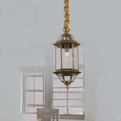 Đèn thả vàng đồng cao cấp chao đèn bằng thủy tinh giá rẻ nhất D6008/M